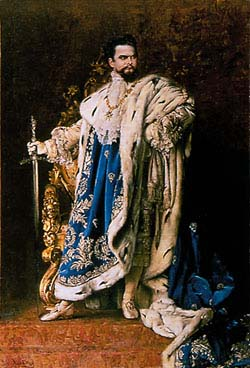 Ludwig II as Grand Master of the Bavarian Order of Knights (Gabriel Schachinger, 1887)