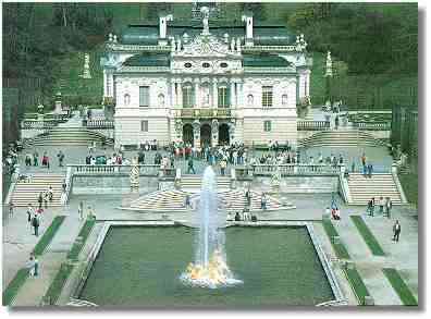 the castle of Linderhof